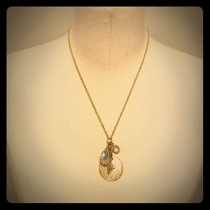 LOFT Gold Charm Necklace adjustable
